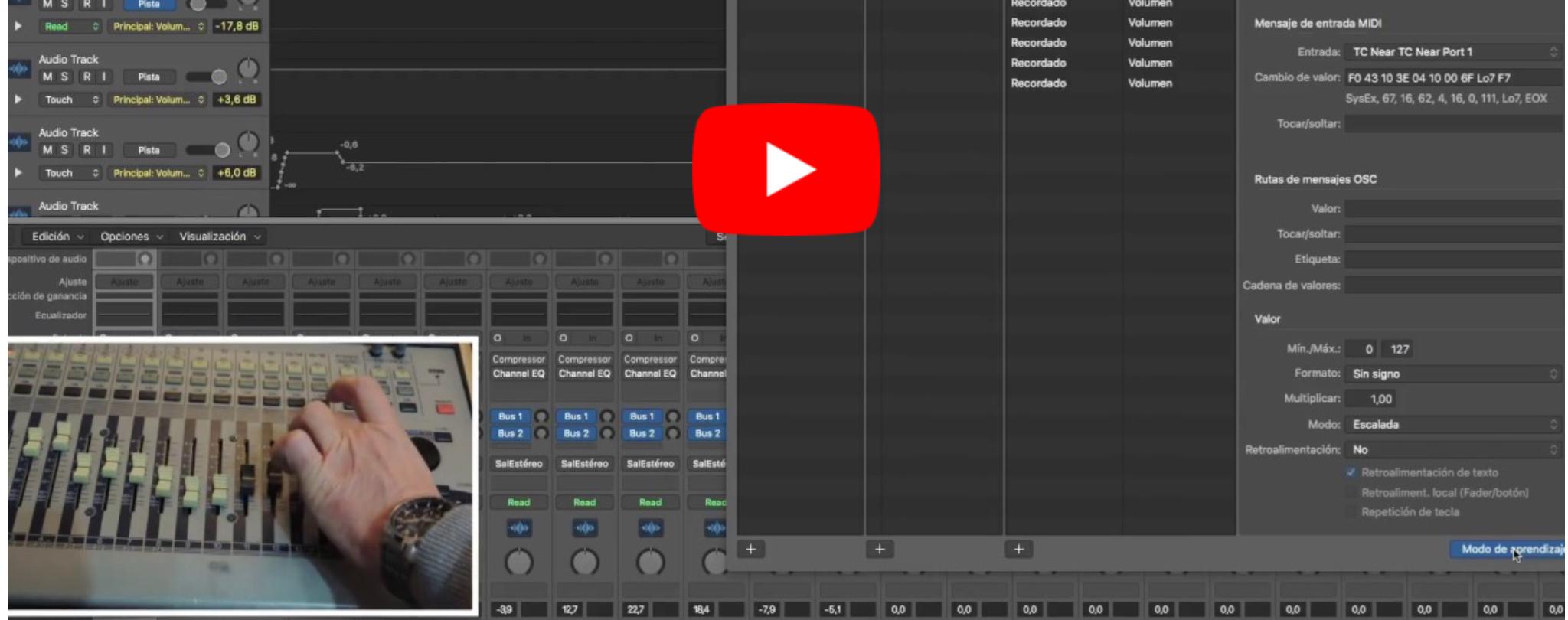 Controlar Logic Pro X desde Yamaha 01V primera versión.